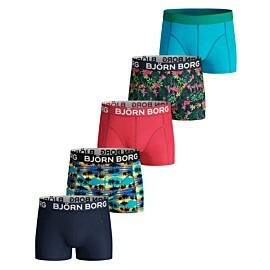 bjorn borg sunset mini en exotic mini onderbroek junior blue atoll 5-pack