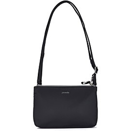 pacsafe stylesafe double zip crossbody schoudertas black
