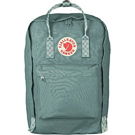 fjallraven k�nken 17 inch laptop rugzak frost green chess pattern