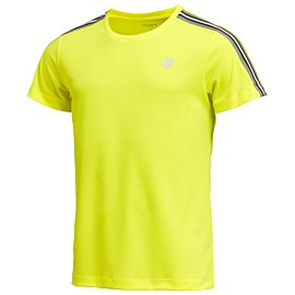 bjorn borg tomlin tennisshirt heren safety yellow