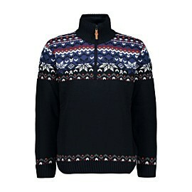 cmp man knitted pullover wp trui heren black blue