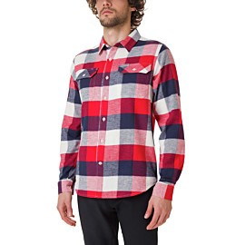 columbia flare gun stretch flannel overhemd heren sea salt big check