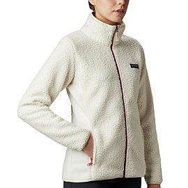 columbia panorama fleece vest dames chalk