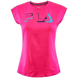 fila alice tennisshirt dames knockout pink