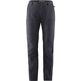fjallraven travellers mt zip-off afritsbroek dames dark navy