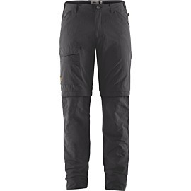 fjallraven travellers mt zip-off afritsbroek heren dark grey