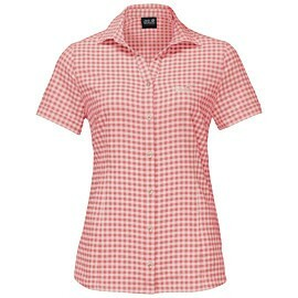 jack wolfskin kepler blouse dames blush pink checks