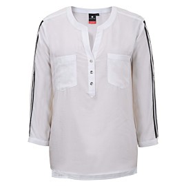 luhta attala blouse dames optic white