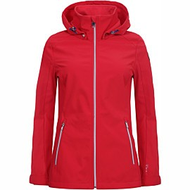 luhta isopouru softshell jas dames coral red
