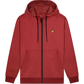 lyle & scott superwick full zip vest heren turbo red