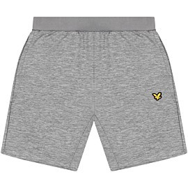 lyle & scott superwick short heren mid grey marl