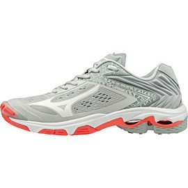 mizuno wave lightning z5 v1gc1900-60 indoorschoenen dames glacier gray