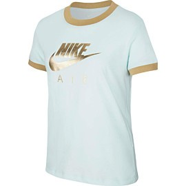 nike air logo ringer shirt junior teal tint green