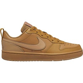 nike court borough lo 2 bq5448 vrijetijdsschoenen junior wheat gum light brown