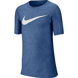 nike dri-fit core performance shirt junior mountain blue white