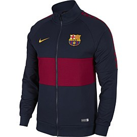 nike fc barcelona trainingsjack obsidian noble red