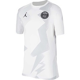 nike jordan x paris saint-germain voetbalshirt junior white black