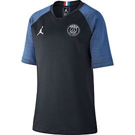 nike paris saint-germain strike voetbalshirt junior black hyper cobalt