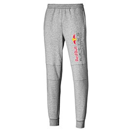 puma red bull racing logo sweat pants joggingbroek heren light gray heather