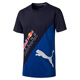 puma red bull racing logo tee plus shirt heren night sky