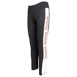reebok linear logo tight dames black