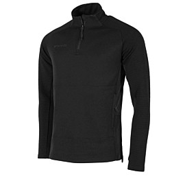 stanno functionals 1/4 zip trainingsshirt heren zwart