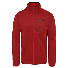 the north face canyonlands fleece vest heren cardinal red