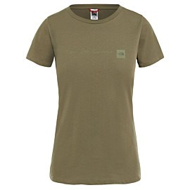 the north face nse t-shirt dames new taupe green