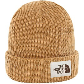 the north face salty dog beanie muts cedar brown twill beige