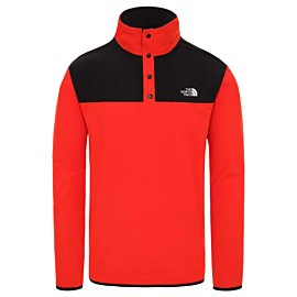 the north face tka glacier fleece trui heren fiery red tnf black