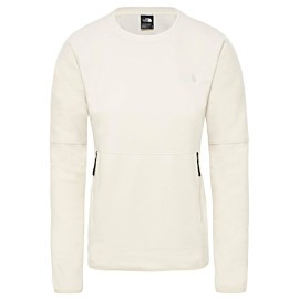 the north face tka glacier fleece trui dames vintage white