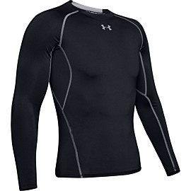 under armour heatgear armour long sleeve compressie shirt heren black