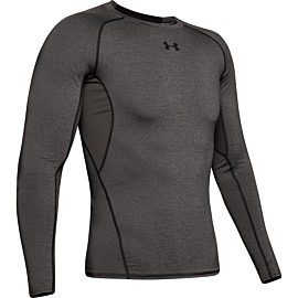 under armour heatgear armour long sleeve compressie shirt heren gray
