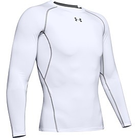 under armour heatgear armour long sleeve compressie shirt heren white