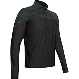 under armour qualifier camo hardloopshirt heren blackout camo black
