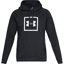 under armour rivel fleece hoodie heren black