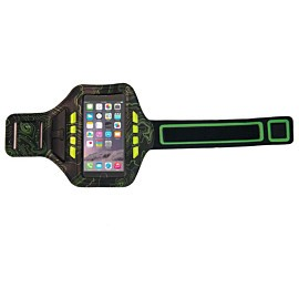 bee sports led phone armband usb black