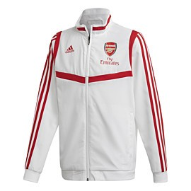 adidas arsenal presentation trainingsjack junior white scarlet
