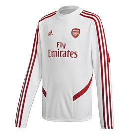adidas arsenal trainingstrui junior white scarlet