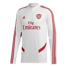 adidas arsenal trainingstrui white scarlet