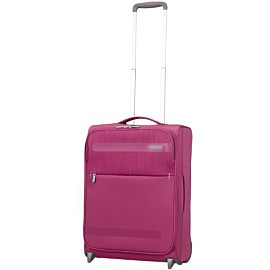 american tourister herolite upright 41 liter trolley pomegranate