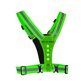 bee sports led harness usb lime