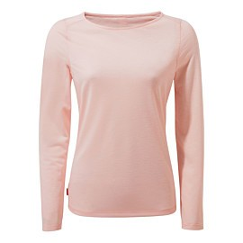 craghoppers nosilife erin ii long sleeved shirt dames seashell pink