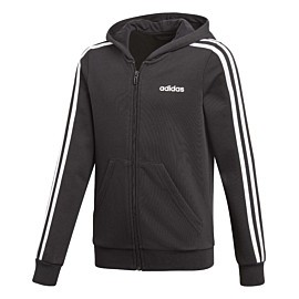adidas essentials 3s full zip hoody vest junior black white