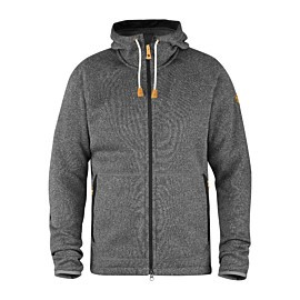 fjallraven ovik fleece hoodie fleece vest heren dark grey