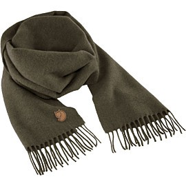 fjallraven solid re-wool scarf sjaal deep forest