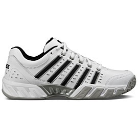 k-swiss bigshot light ltr omni 05369 tennisschoenen heren white black silver