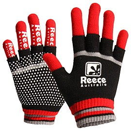 reece australia knitted player 2 in 1 handschoenen senior rood