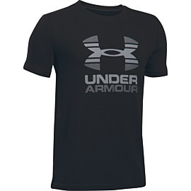 under armour two tone logo shirt junior black