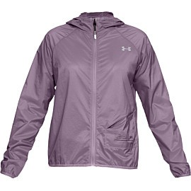under armour ua qualifier storm packable hardloopjack dames purple